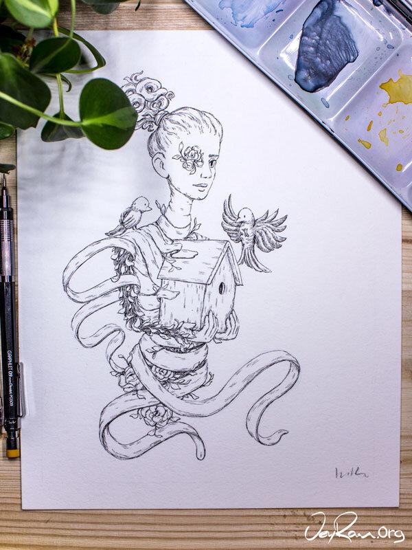 Treasure -  Inktober 2019 Ballpoint Pen Art by JeyRam. #inktober #inkart #originalart #inktober2019