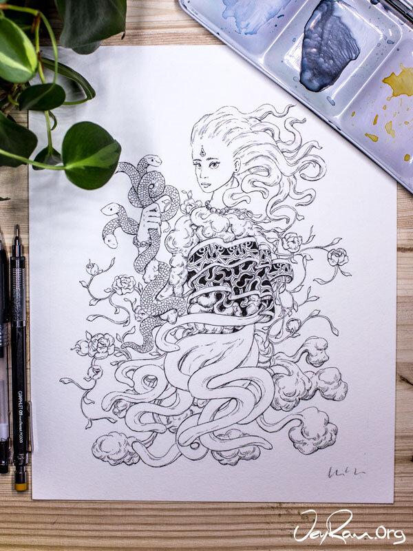 Wild -  Inktober 2019 Ballpoint Pen Art by JeyRam. #inktober #inkart #originalart #inktober2019