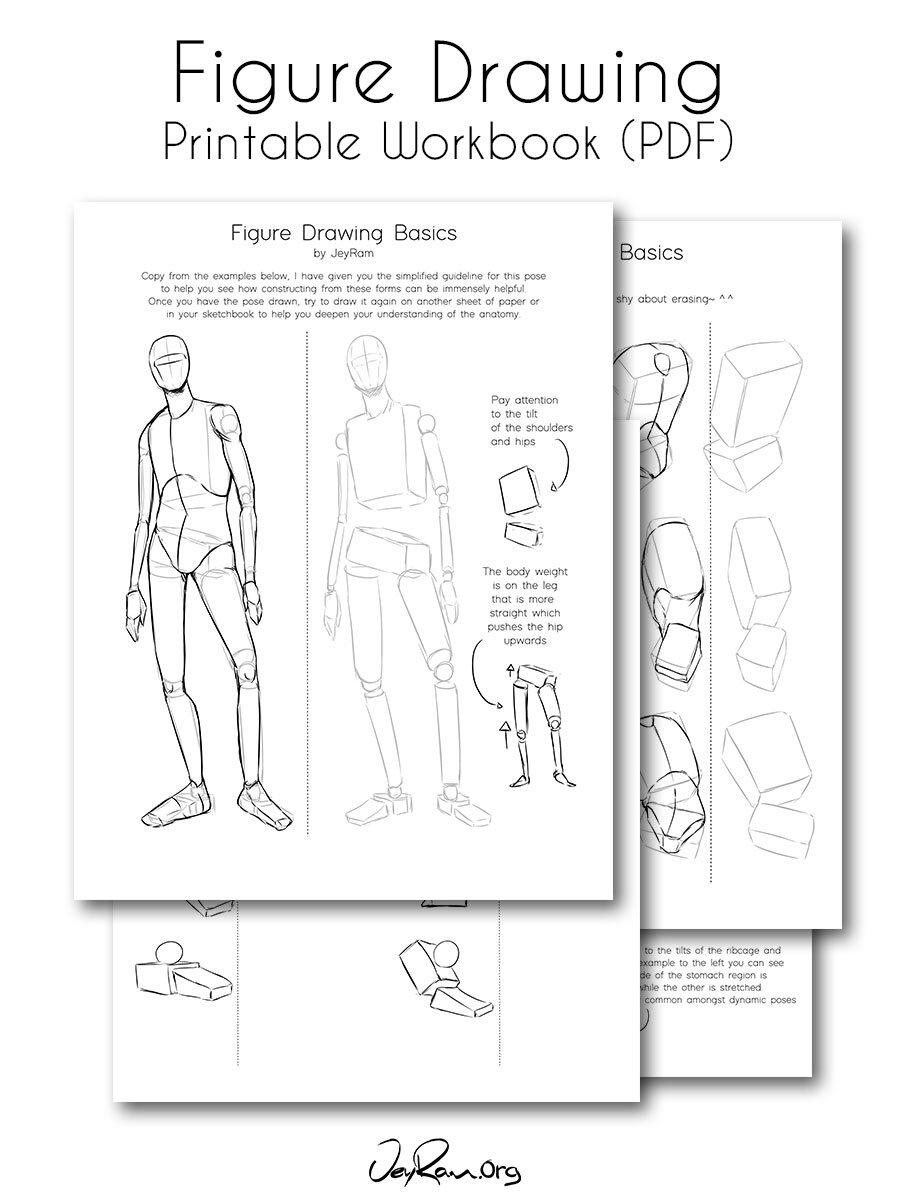 How To Draw The Human Figure Printable Pdf Jeyram Spiritual Art