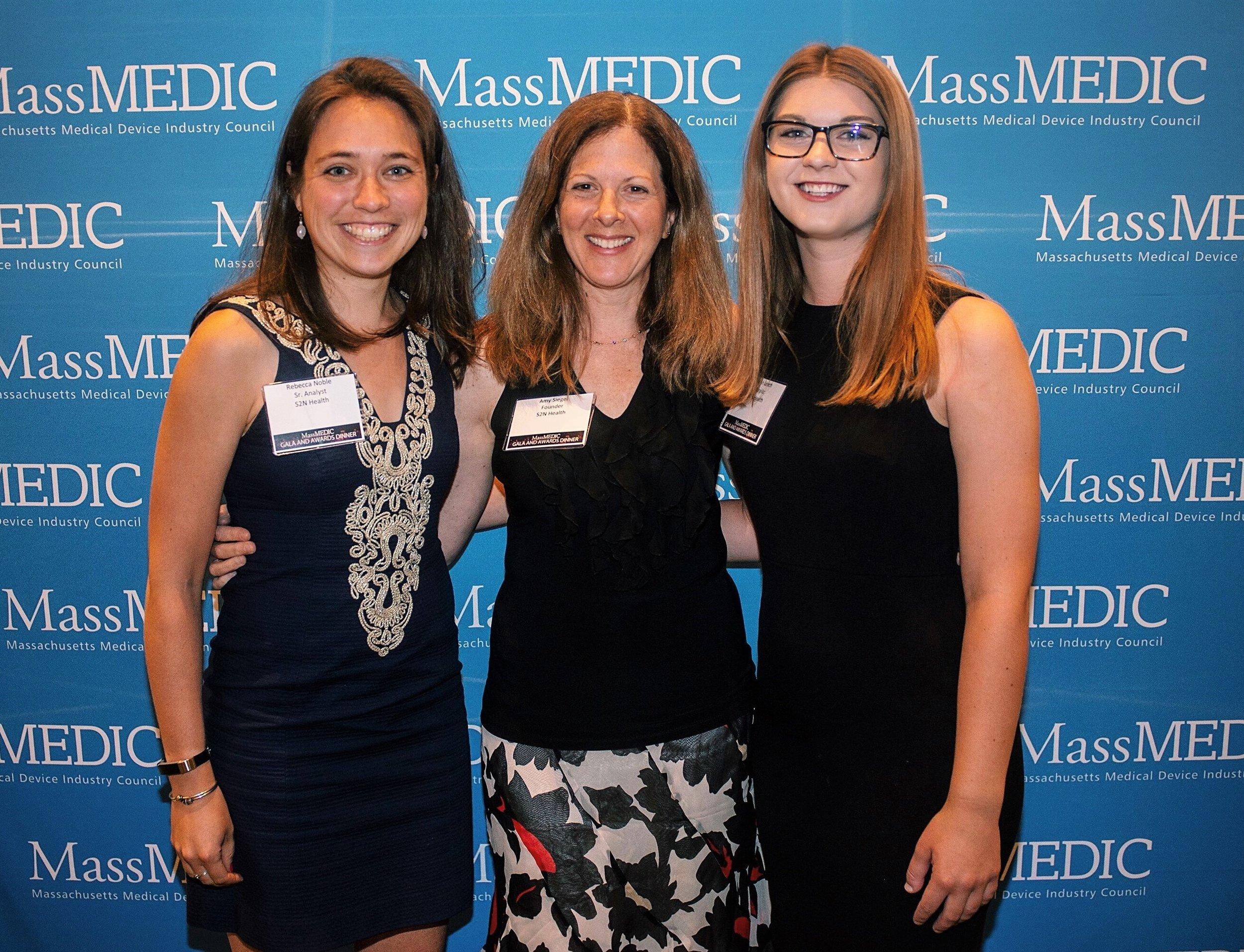 Rebecca, Amy, and Kristen enjoying the MassMedic Gala