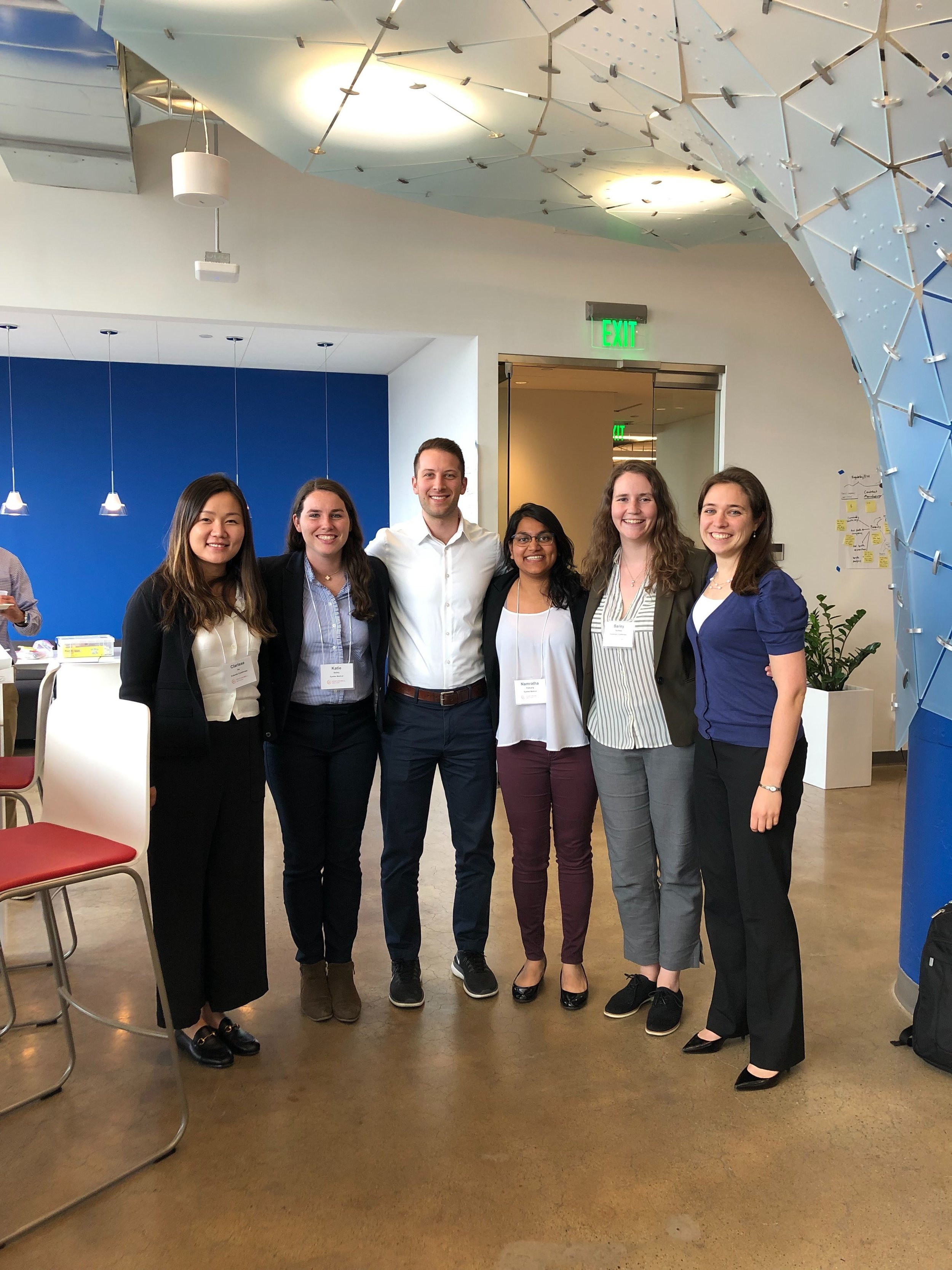 Sam and Rebecca mentoring VentureWell start-ups