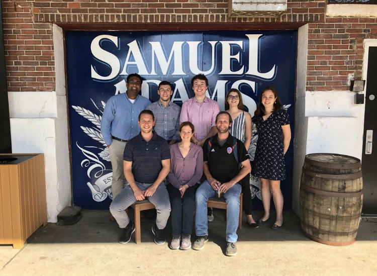 The S2N team enjoying a tour and tasting at the Sam Adams Brewery