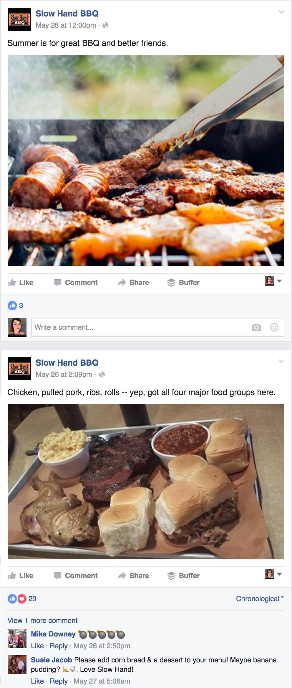 Slow Hand BBQ Facebook