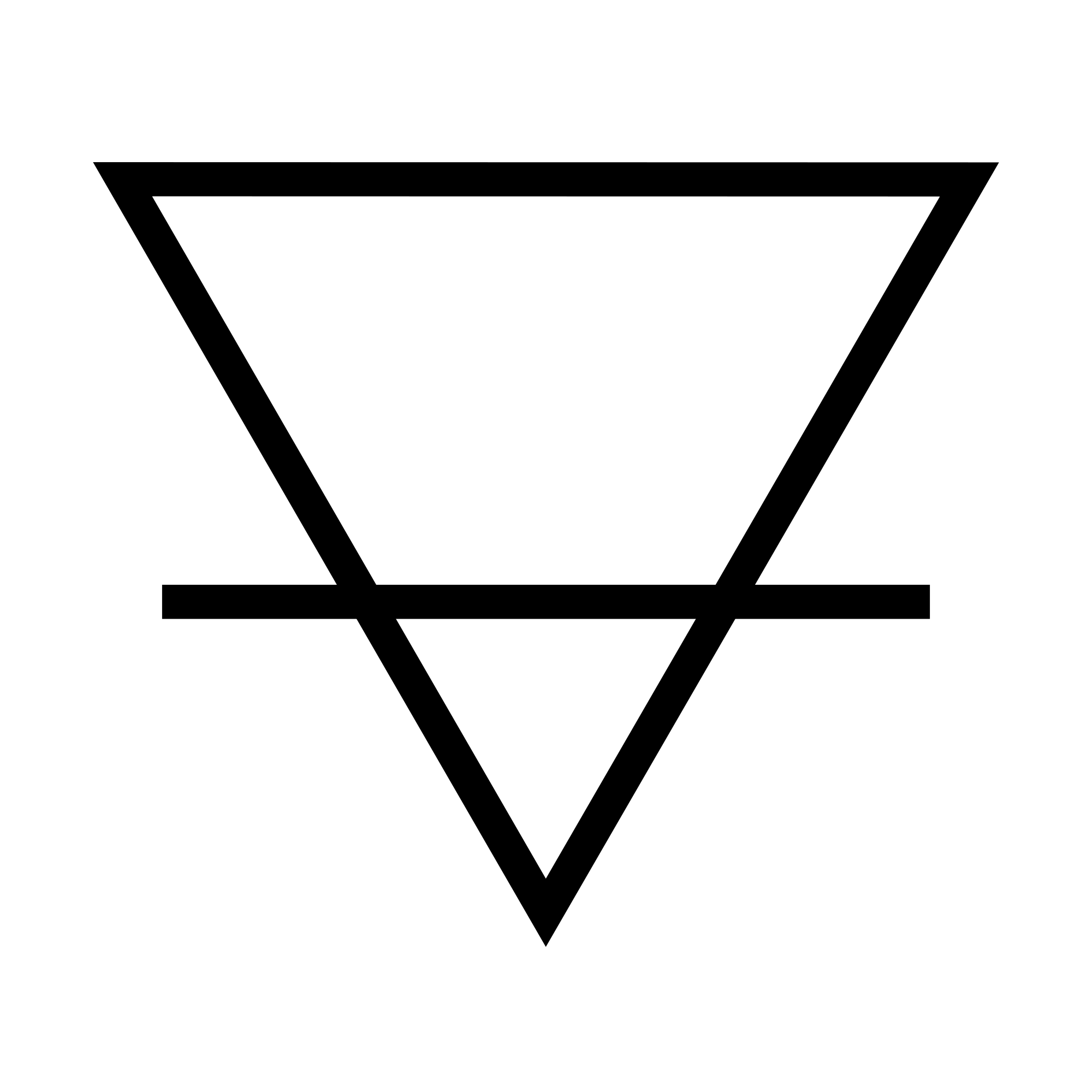 Alchemical symbol for Earth