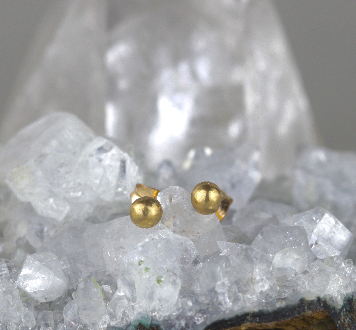 Petite Gold Stud Earrings