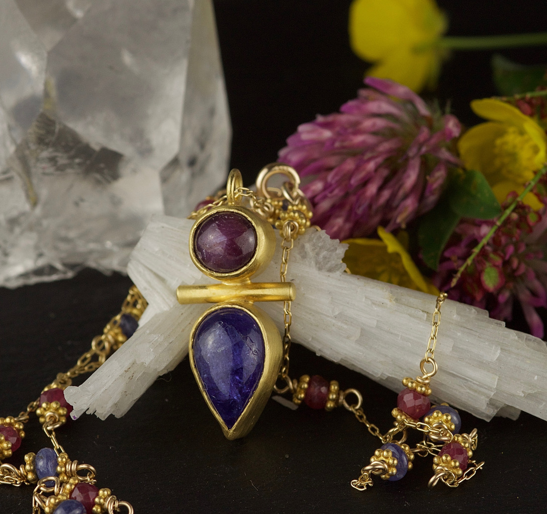 star ruby tanzanite totem symbolic necklace.jpg