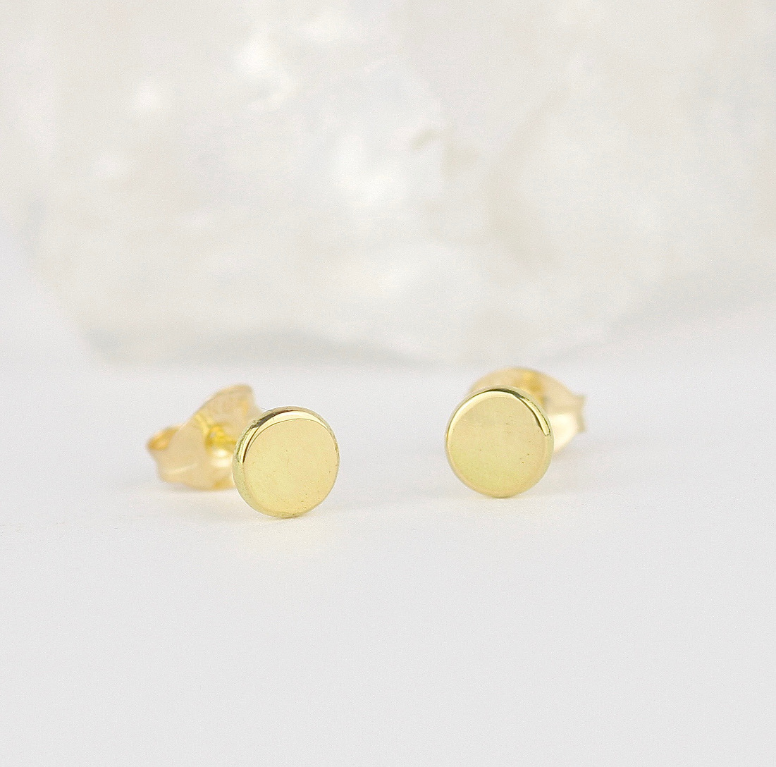 18ct Sun Stud Earrings
