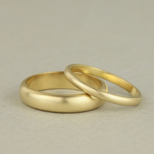 Simple Wedding Ring.Simple Recycled 18ct Gold Slim Half Round Women S Wedding Ring Marcia Vidal