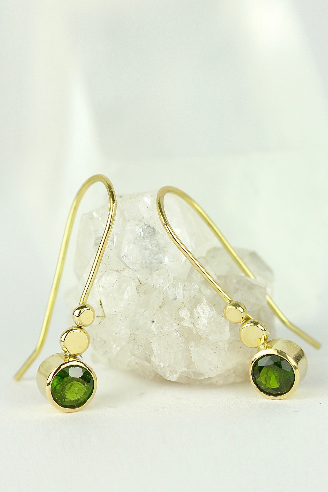 18ct gold green chrome diopside earrings Pinterest.jpg