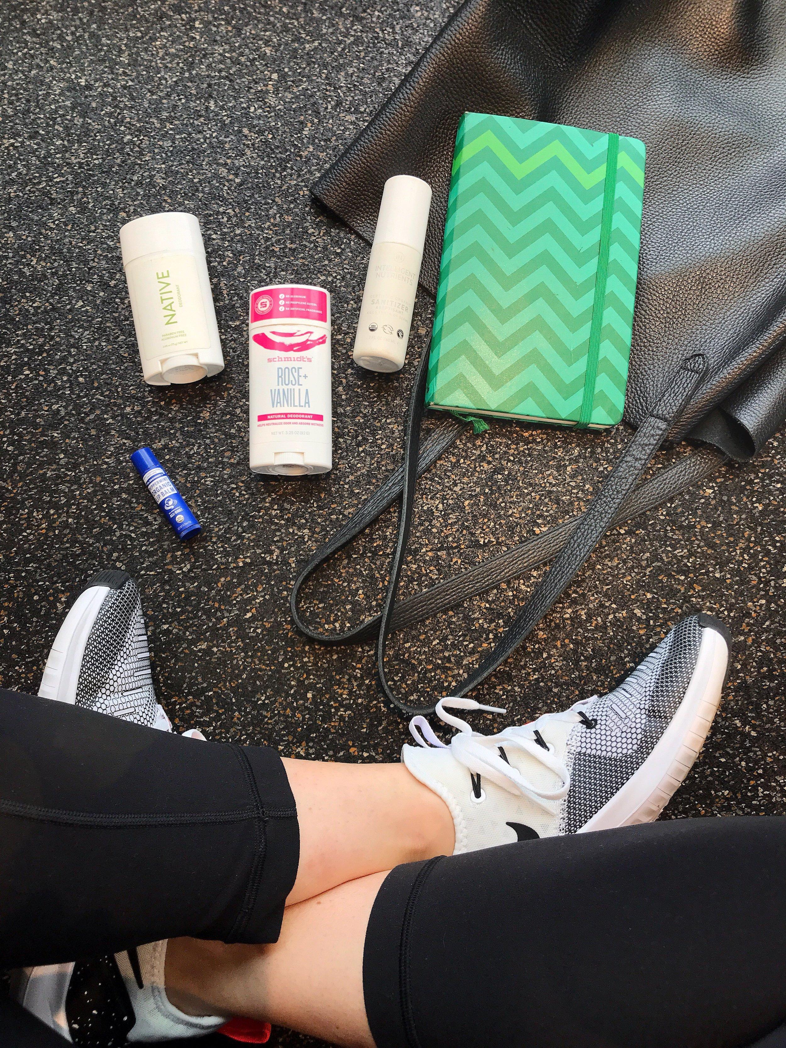 Valerie Bisharat gym bag essentials
