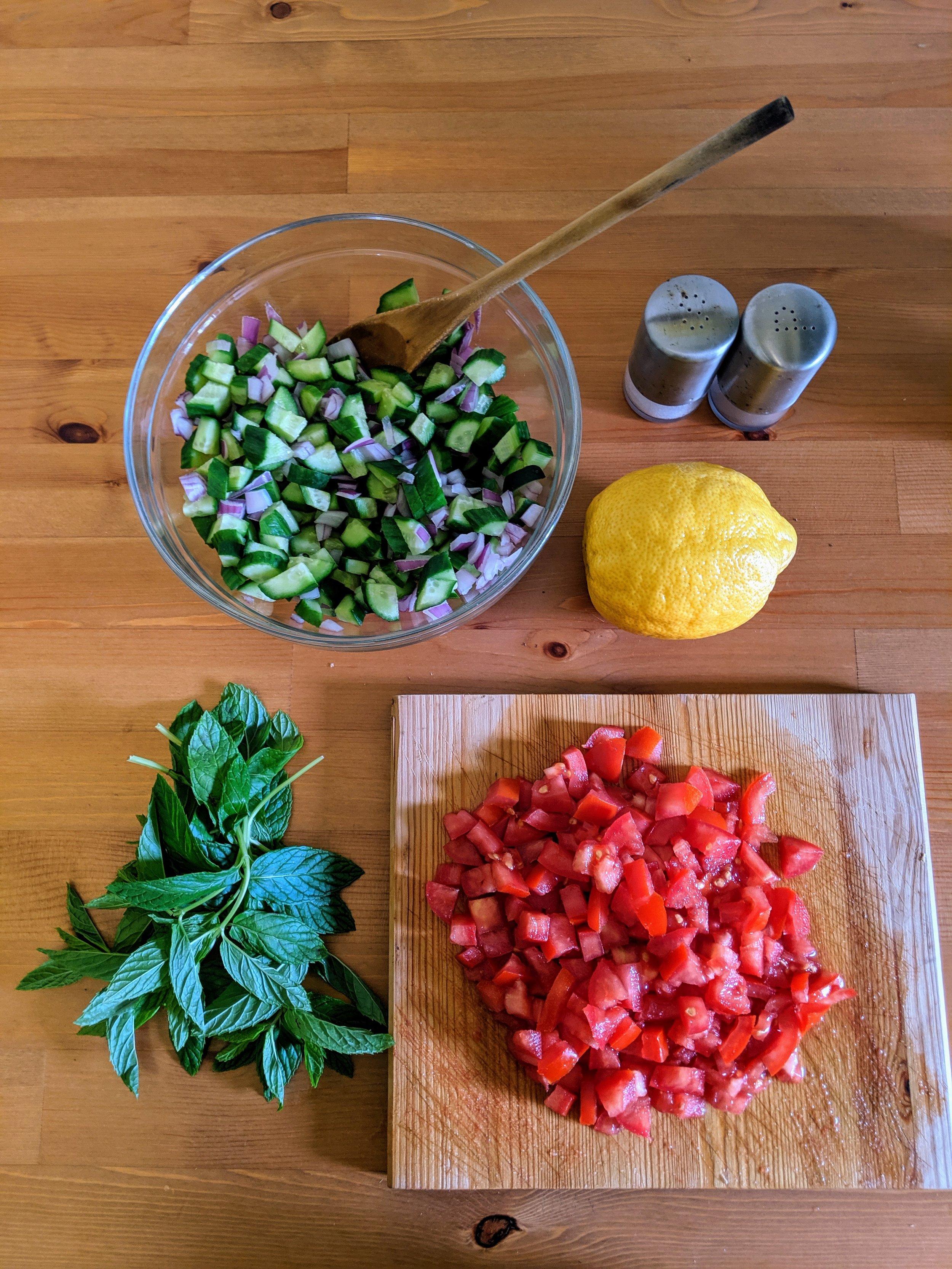 Salad Shirazi 3