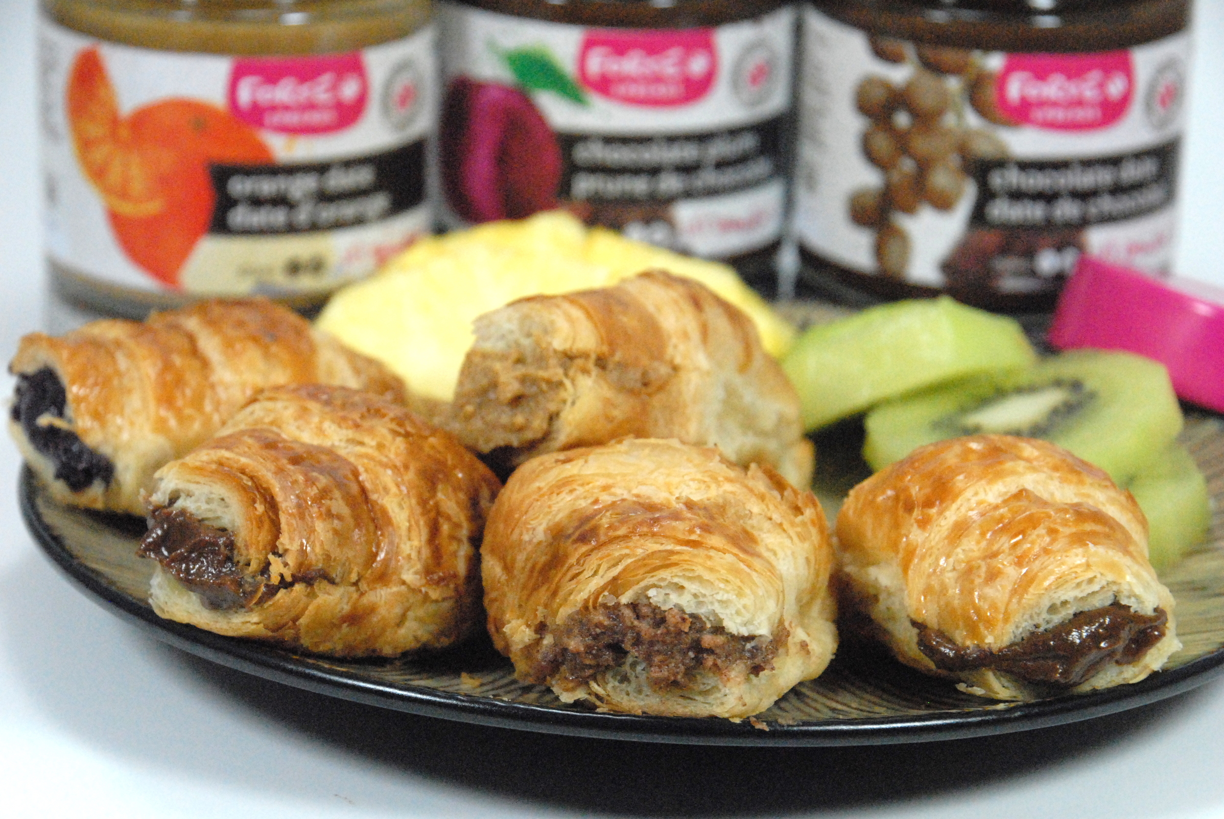 Mini croissants filled with Forte chocolate fruit spreads