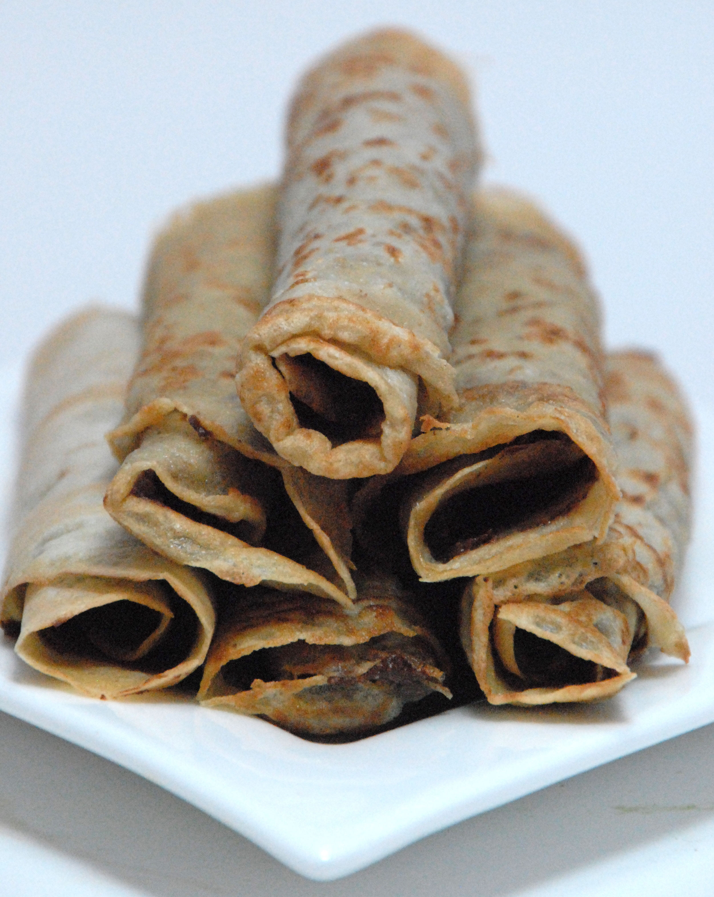 Forte chocolate spread filled crepes