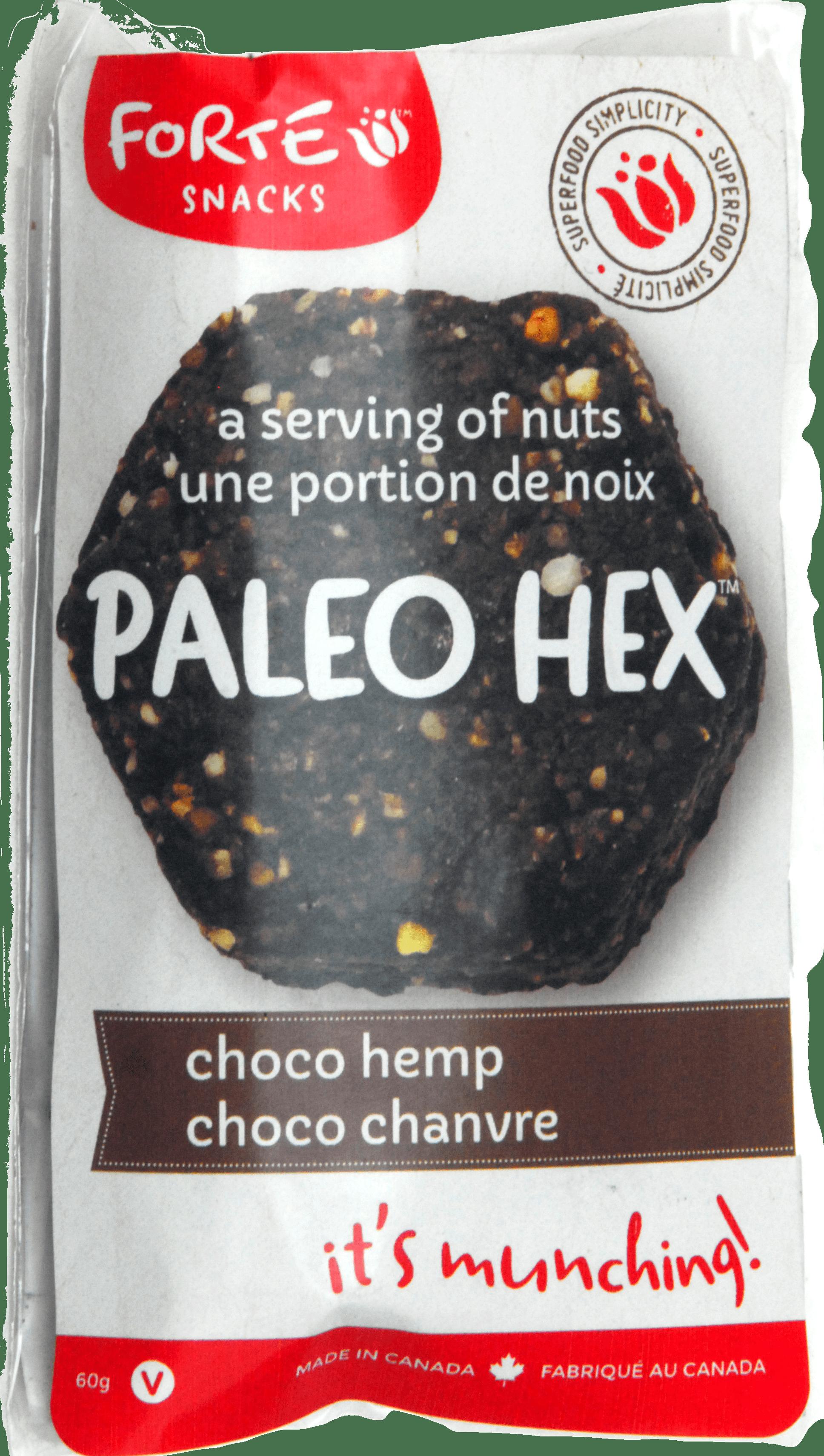 Choc-Hemp snack label