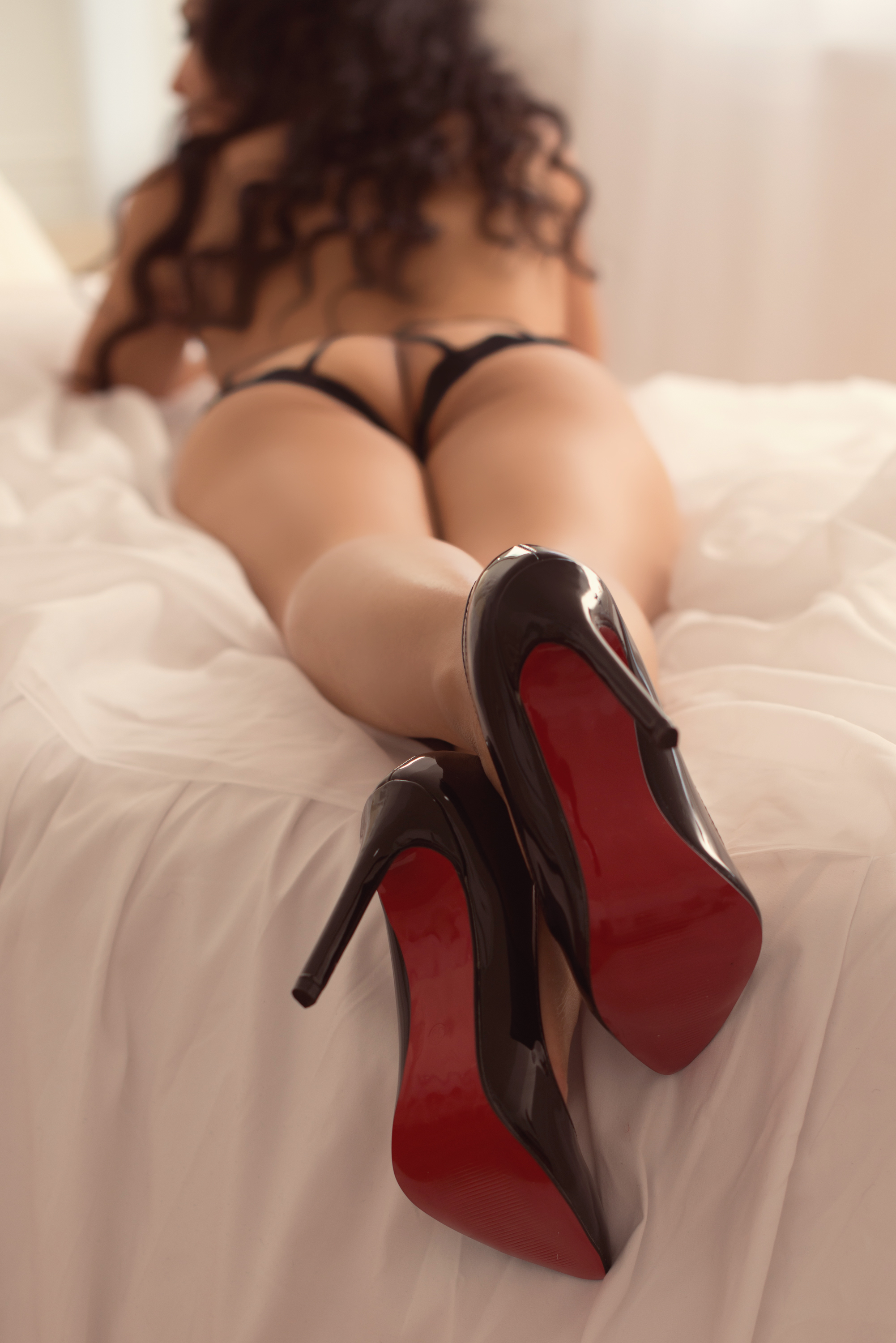 red bottomed shoes