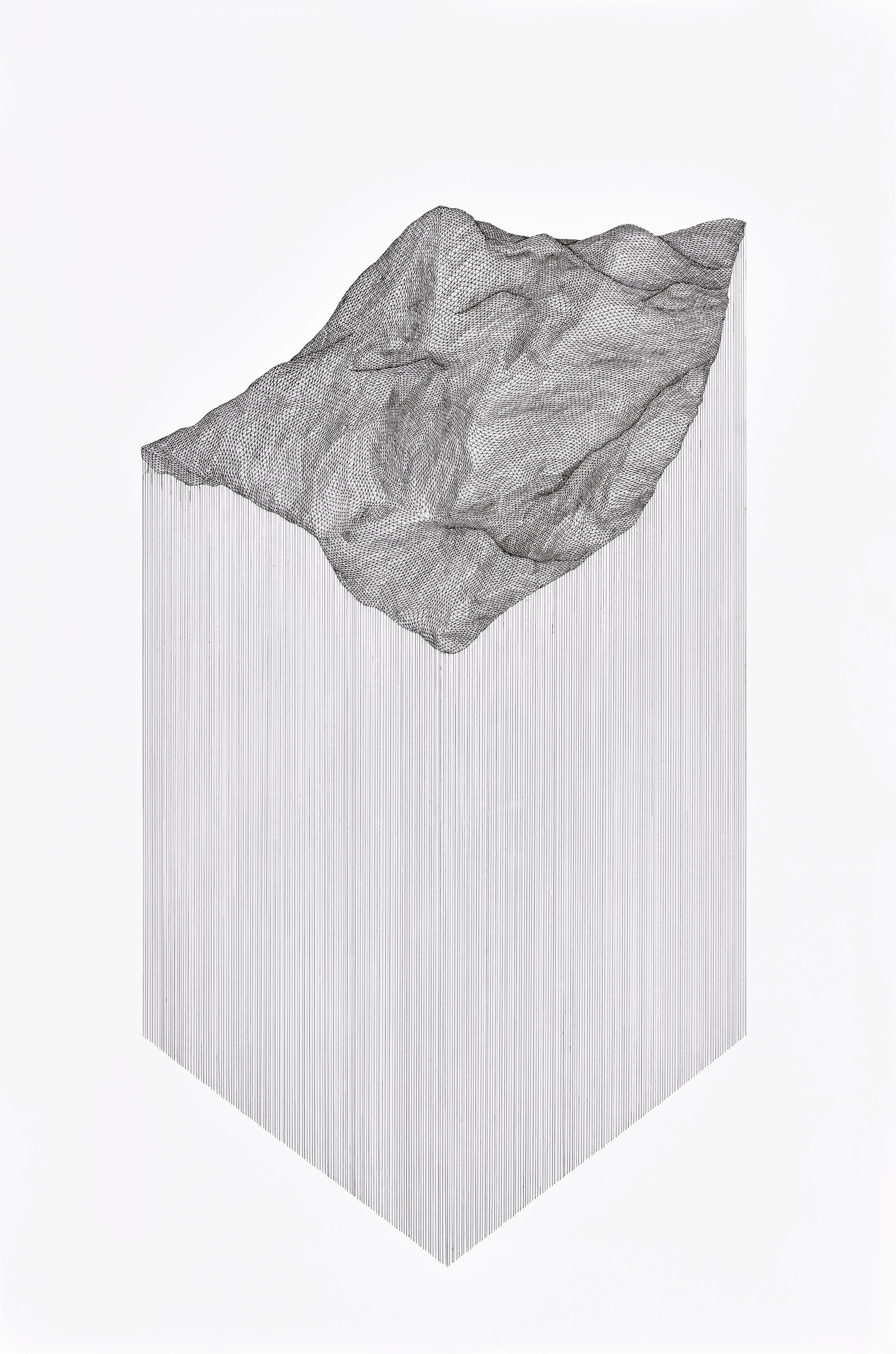 Projected Terrain , 2015  pen on 140 lb paper   SOLD