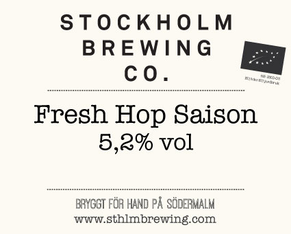 A saison brewed with hops hand-picked by the brewers themselves at  Rosendals Trädgård . Refreshing, floral and herbal. 5,2 %.
