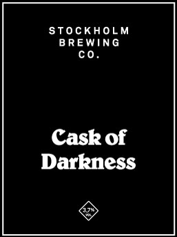 We used the traditional parti-gyle method to produce one strong and one weaker beer from a single mash. The Cask of Darkness is the little sibling of Stockholm Noir. It's roasted, chocolatey and dry. 3,7%