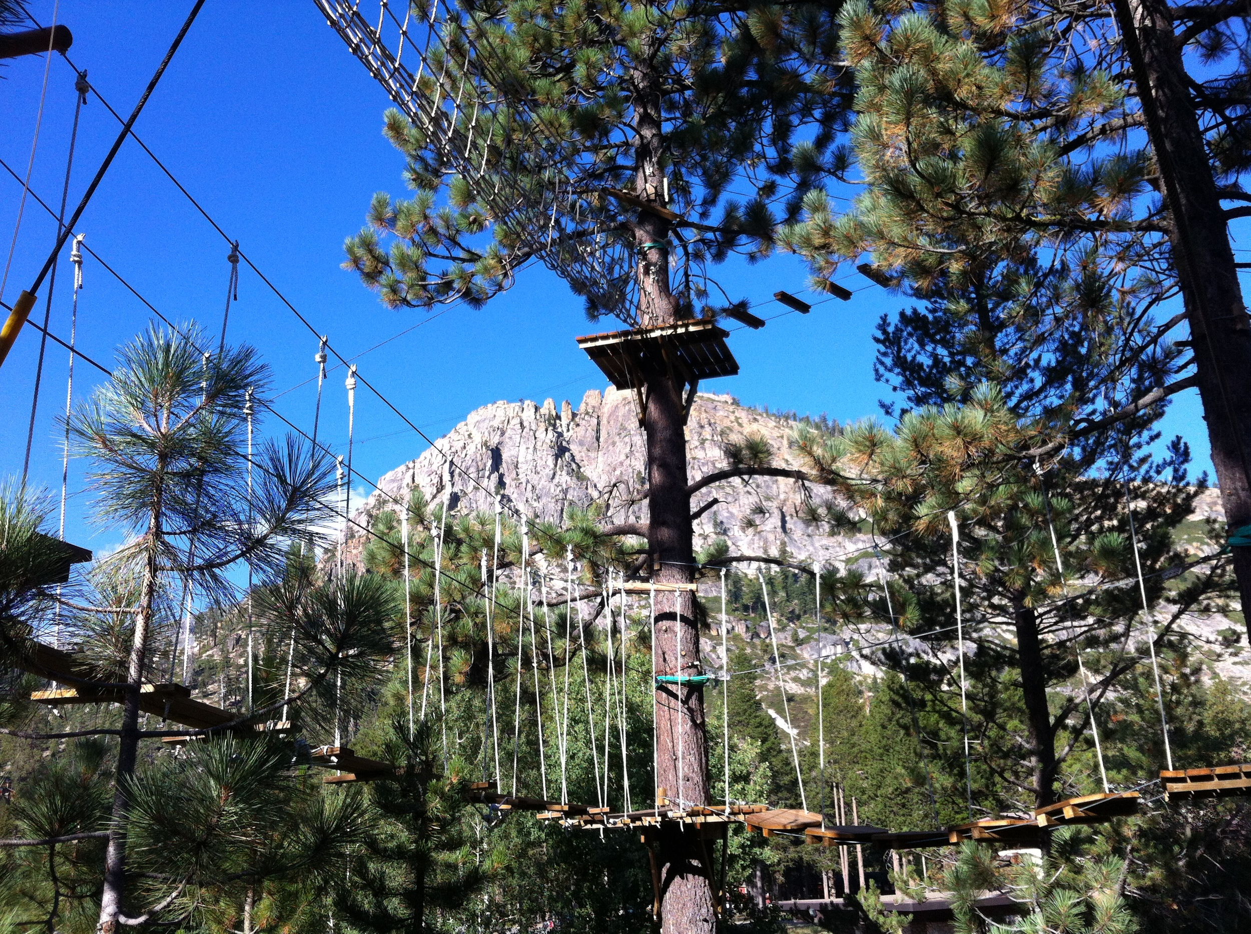 Squaw Ropes Course with Tram Peak in the background
