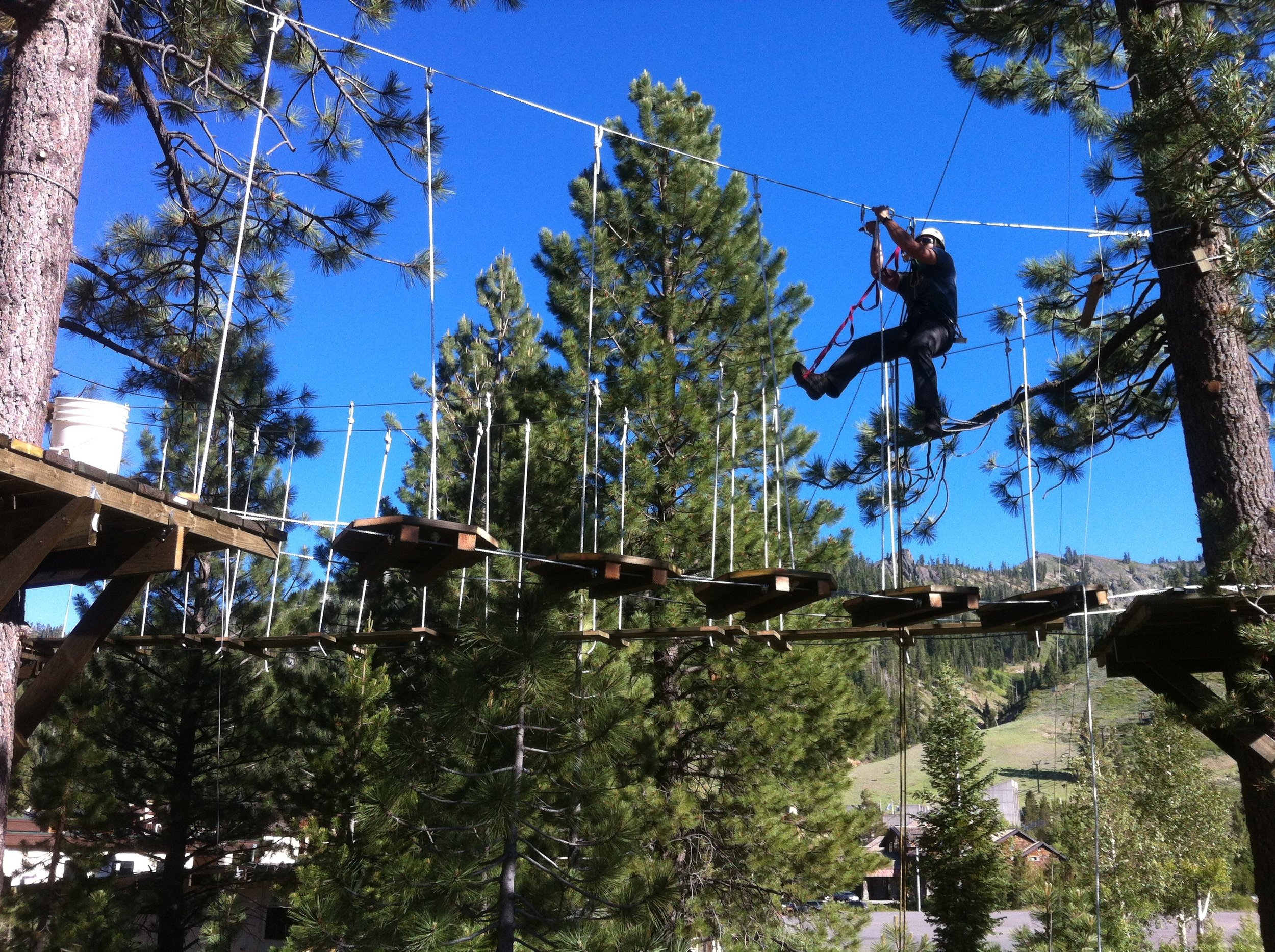 Bridge Building Squaw Valley Ropes Course