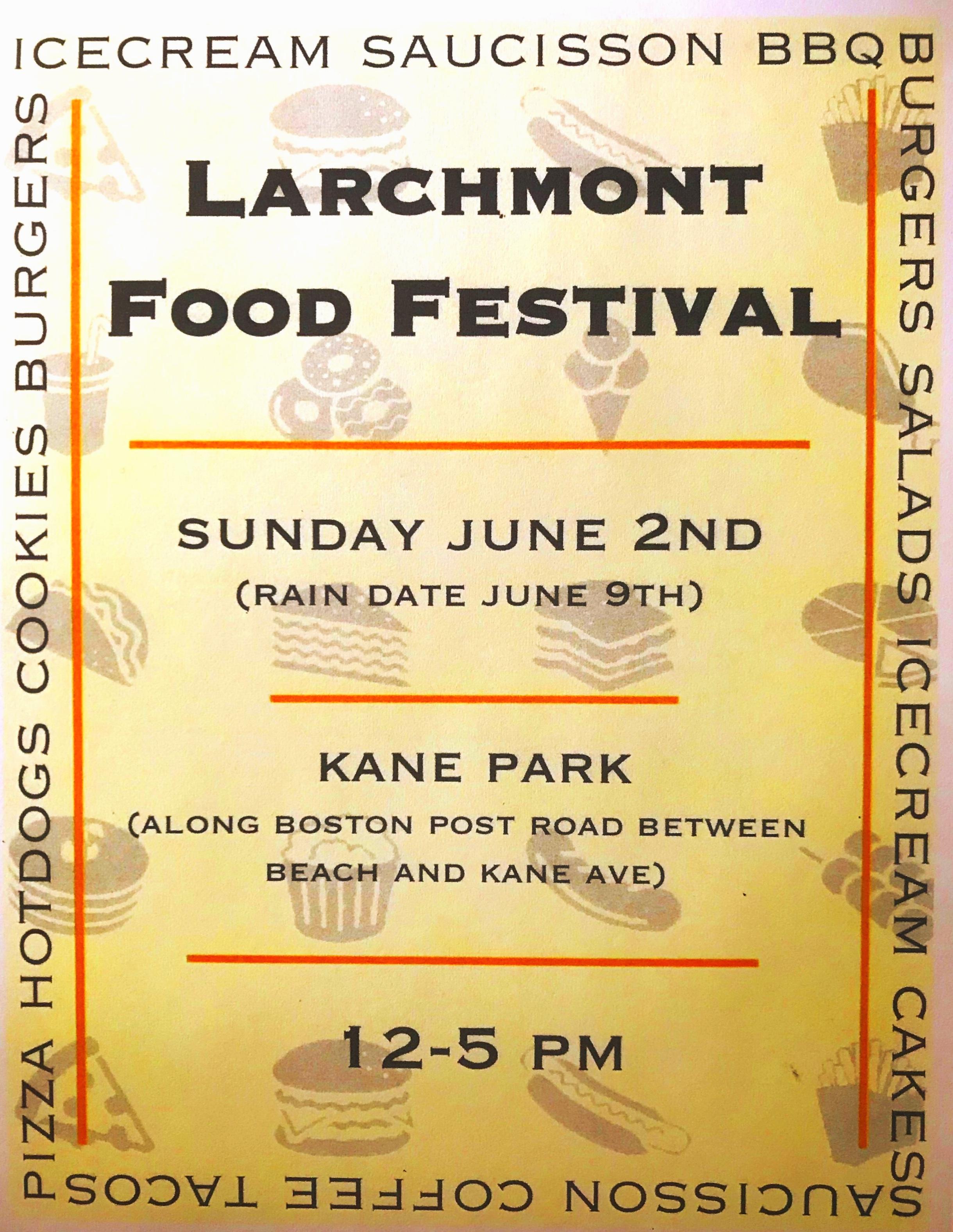 Larchmont Food Festival Sunday June 2nd 2019