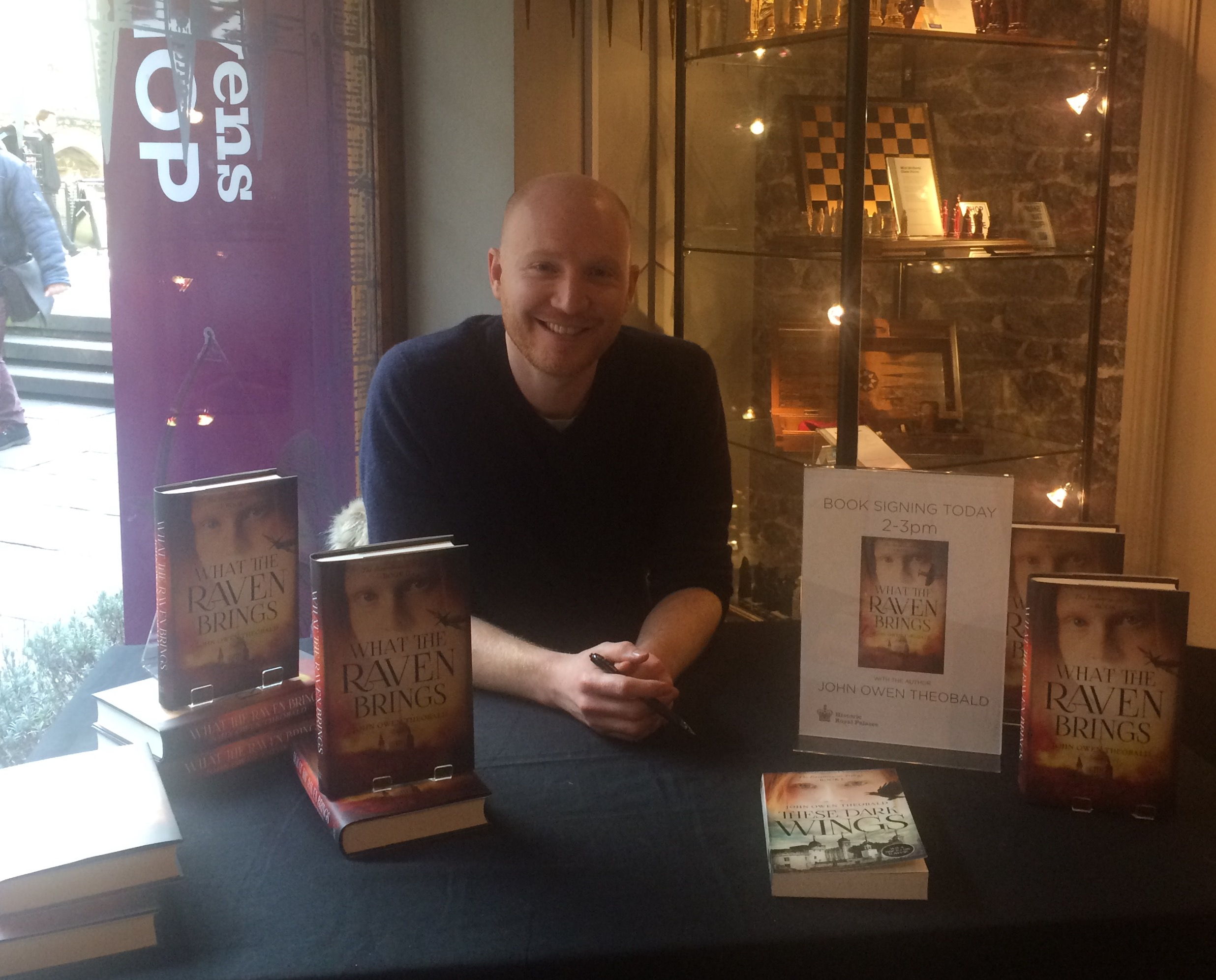 Had a great three days singing books at the Raven Shop - thanks to everyone who stopped by!