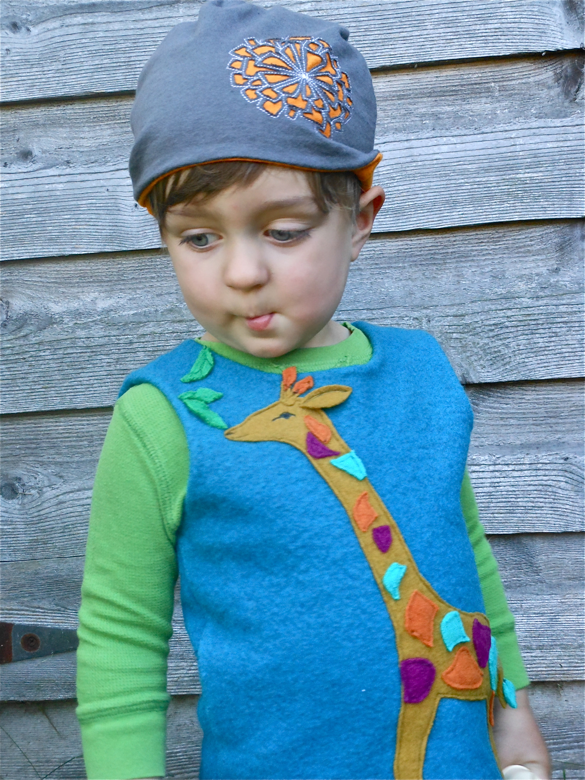 feather weight cap and wool vest