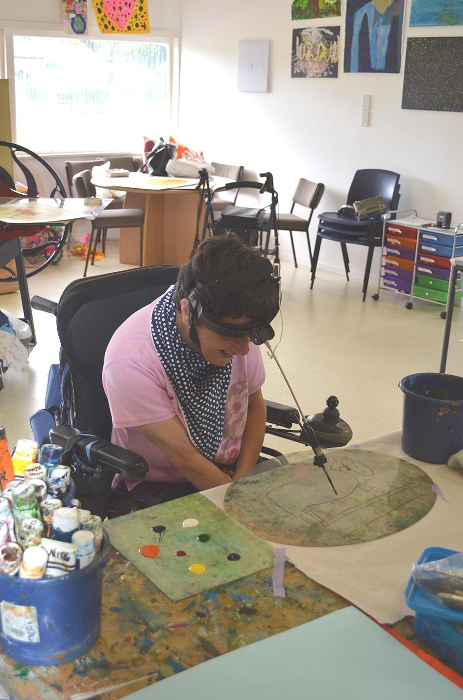 Lizzie Collenette in the studio