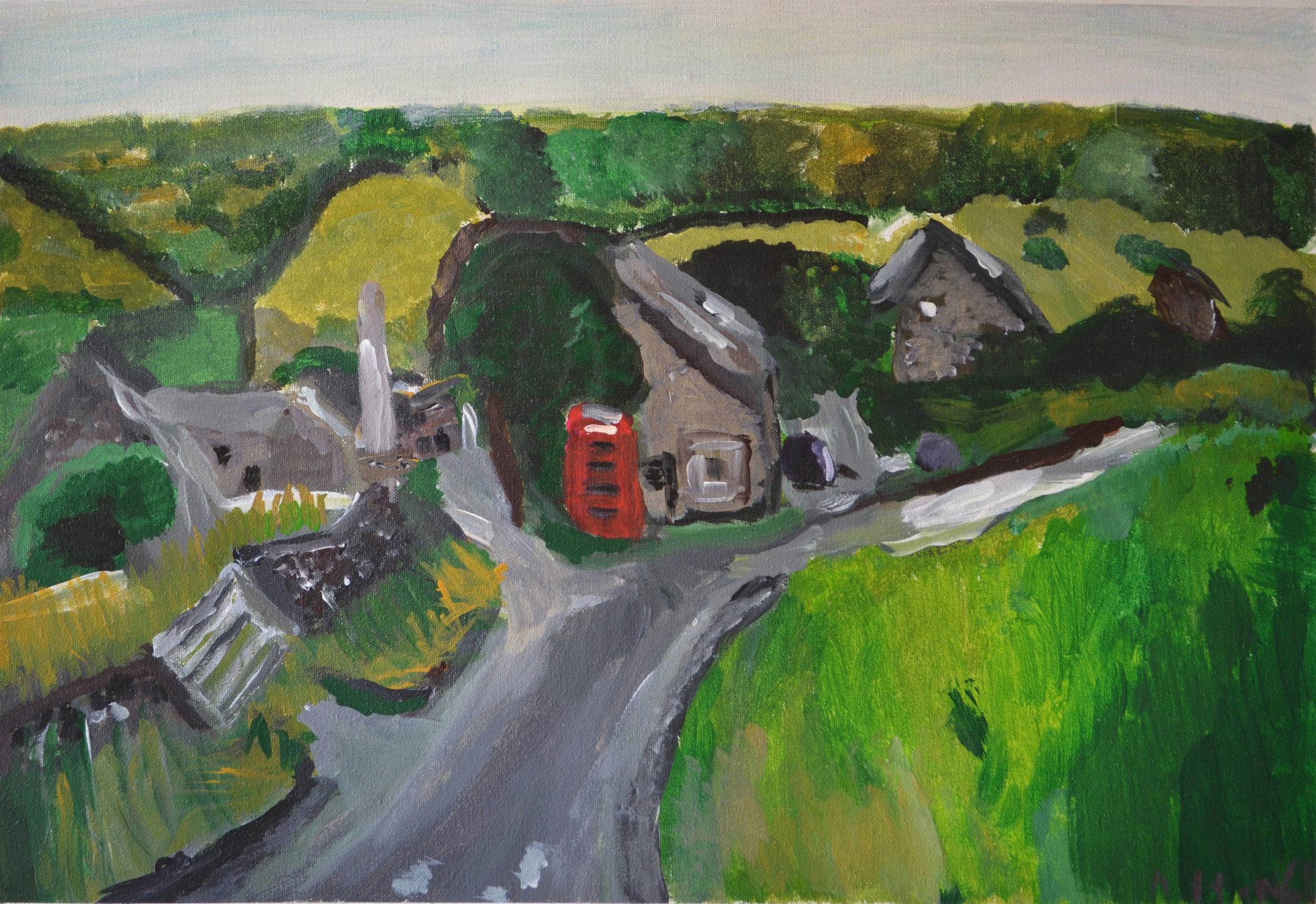 Allyson Hamblett  My sister's Village, Little Hucklow ,2014