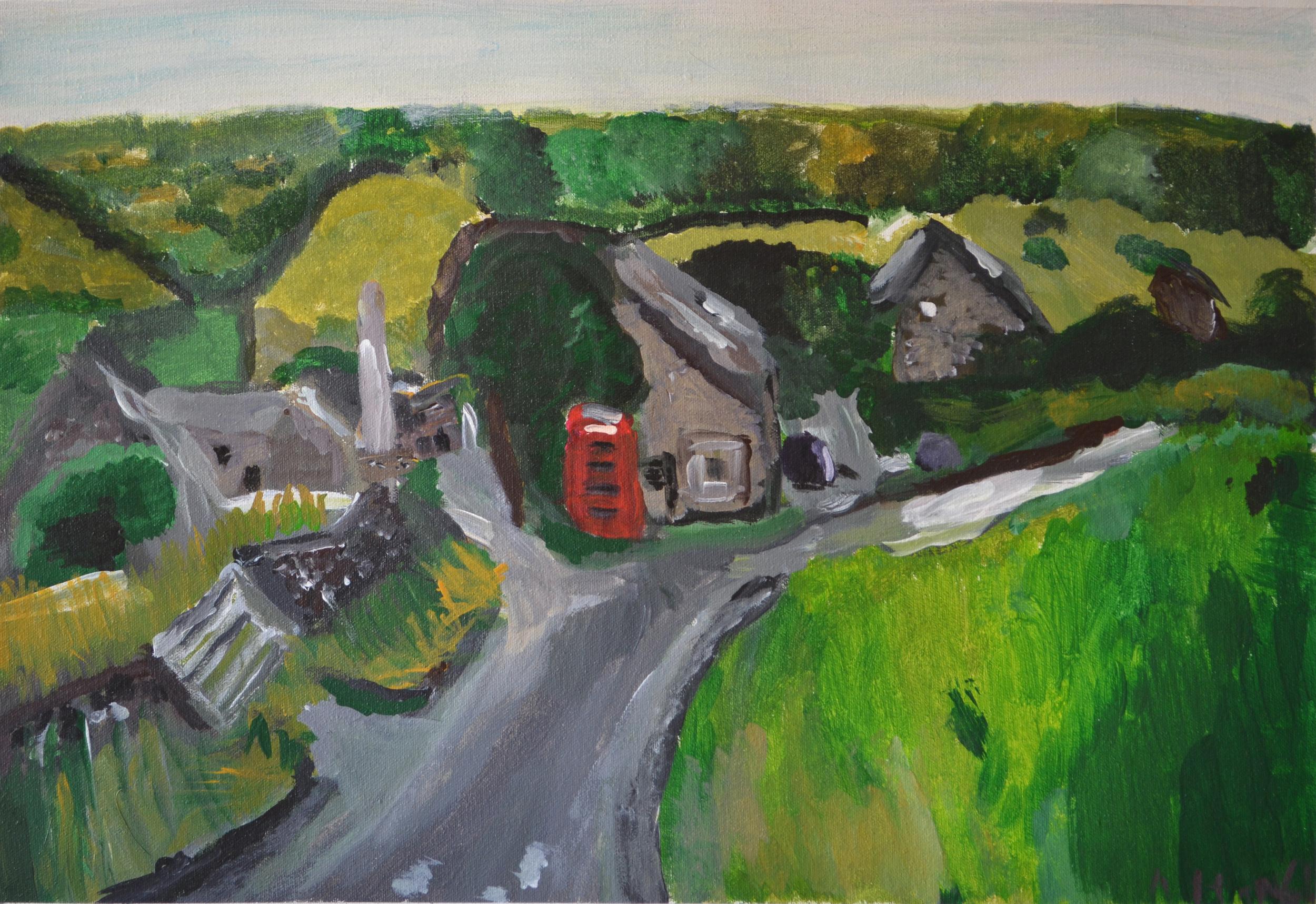 My sister's Village, Little Hucklow, 2014