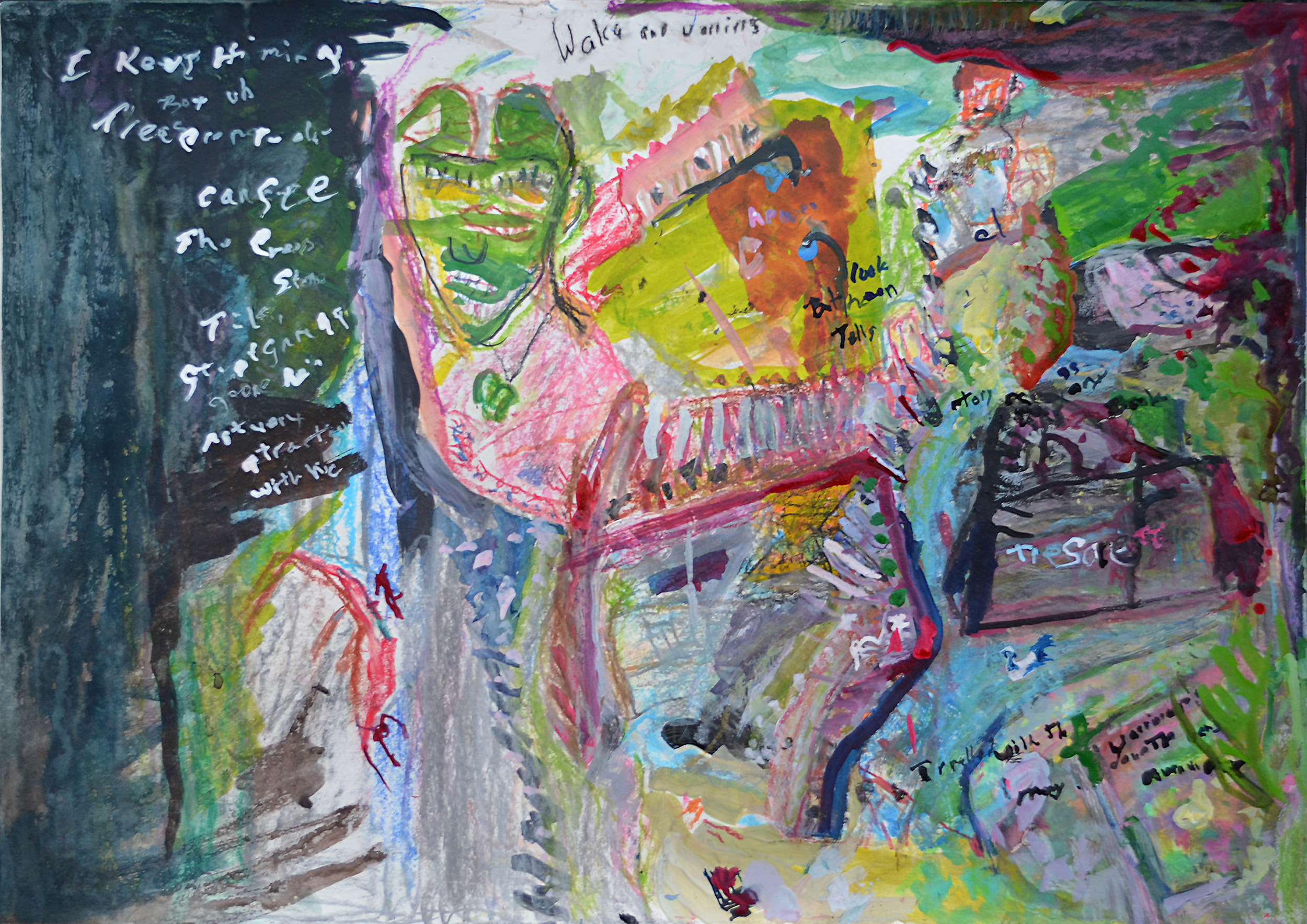 Mary Sanderson,  The Little Greenstone Tiki,  2015