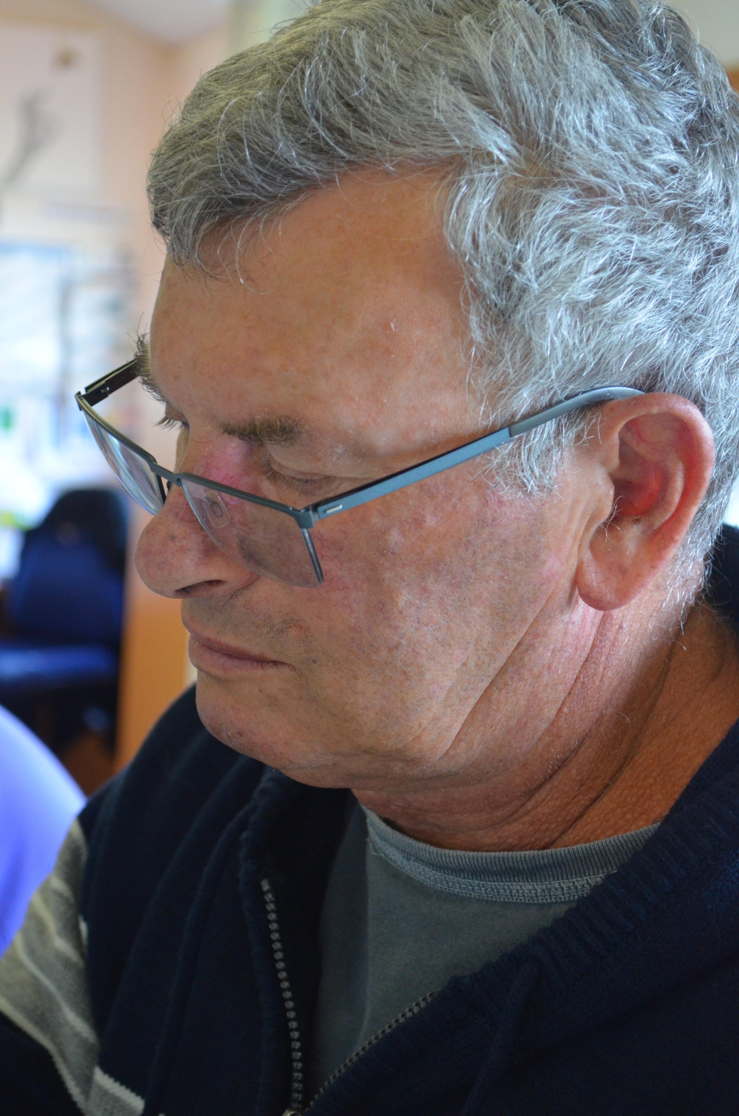 Ross Cowan working in the studio