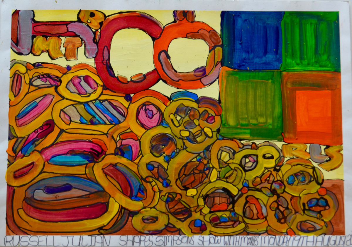 Russell Julian,  Simpsons Show with Shapes  2016