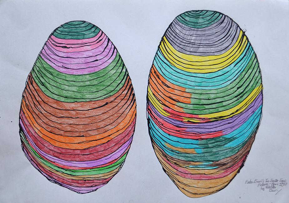 Fatu Enari  Two Easter Eggs Picture , 2017