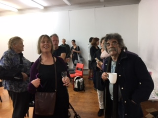 Left: Mapura Director Diana McPherson, Centre: Artist/Writer Allyson Hamblett, Right: Panellist John Perry