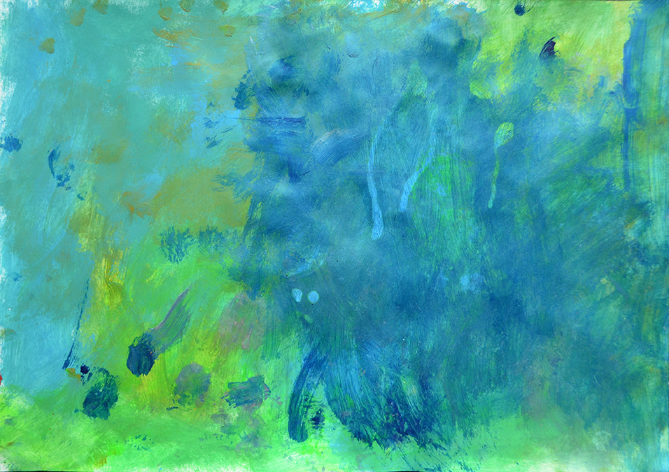 Emma Charraz  Untitled Blue Green