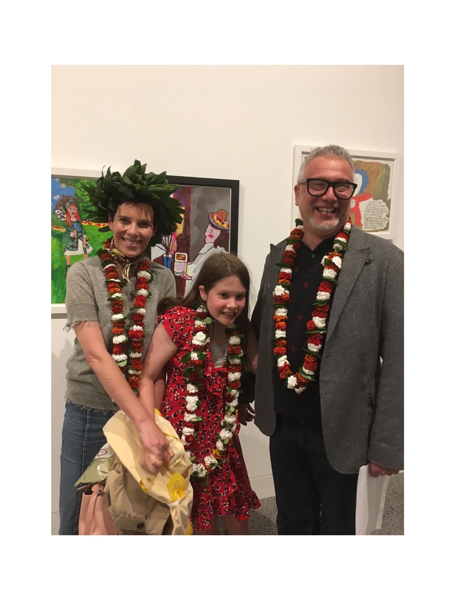 Karen Walker, Mikhail Gherman and their daughter Valentina.