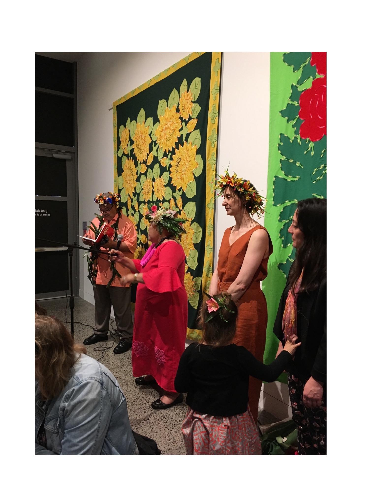 Speeches and textiles from Te Rima Ora o te Metua Vaine