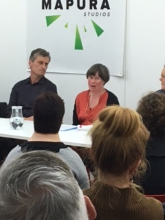 Left: Moderator Peter Feeney, Right: Panellist Molly Mullens