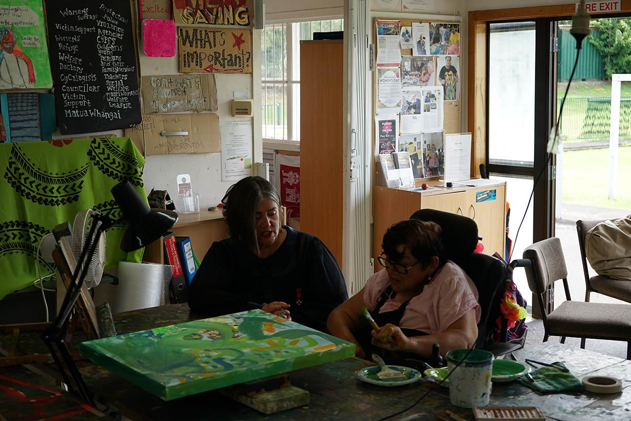 Dame Denise and Lynette Loye
