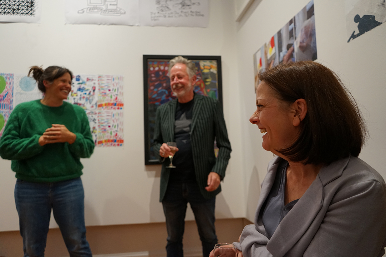 Sacha Kronfield (Studio Coodinator, John Ferris (Board Member, Volunteer), Tanya Black (Previous Mapura Chairperson)