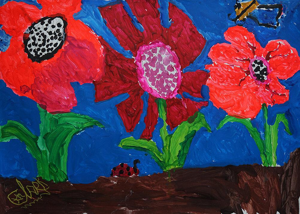 Kay Clarke - Flowers With Little Bugs Going Into it web.jpg