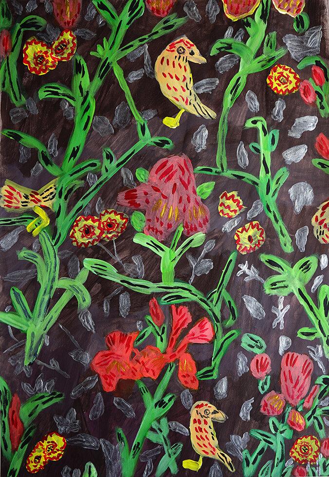 Madeleine Wilson  Floral Textile