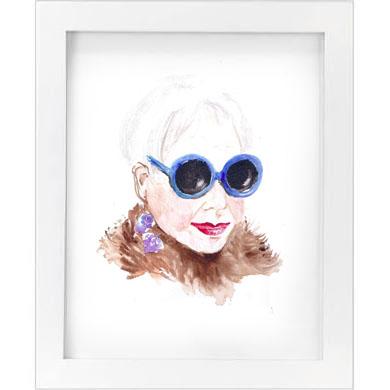 blue shades print   SALE! $10