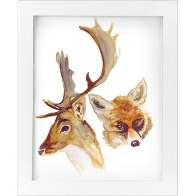 deer & fox print   SALE! $10