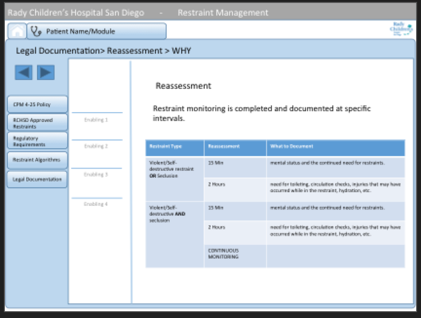 Decision tables provide quick and simple actions