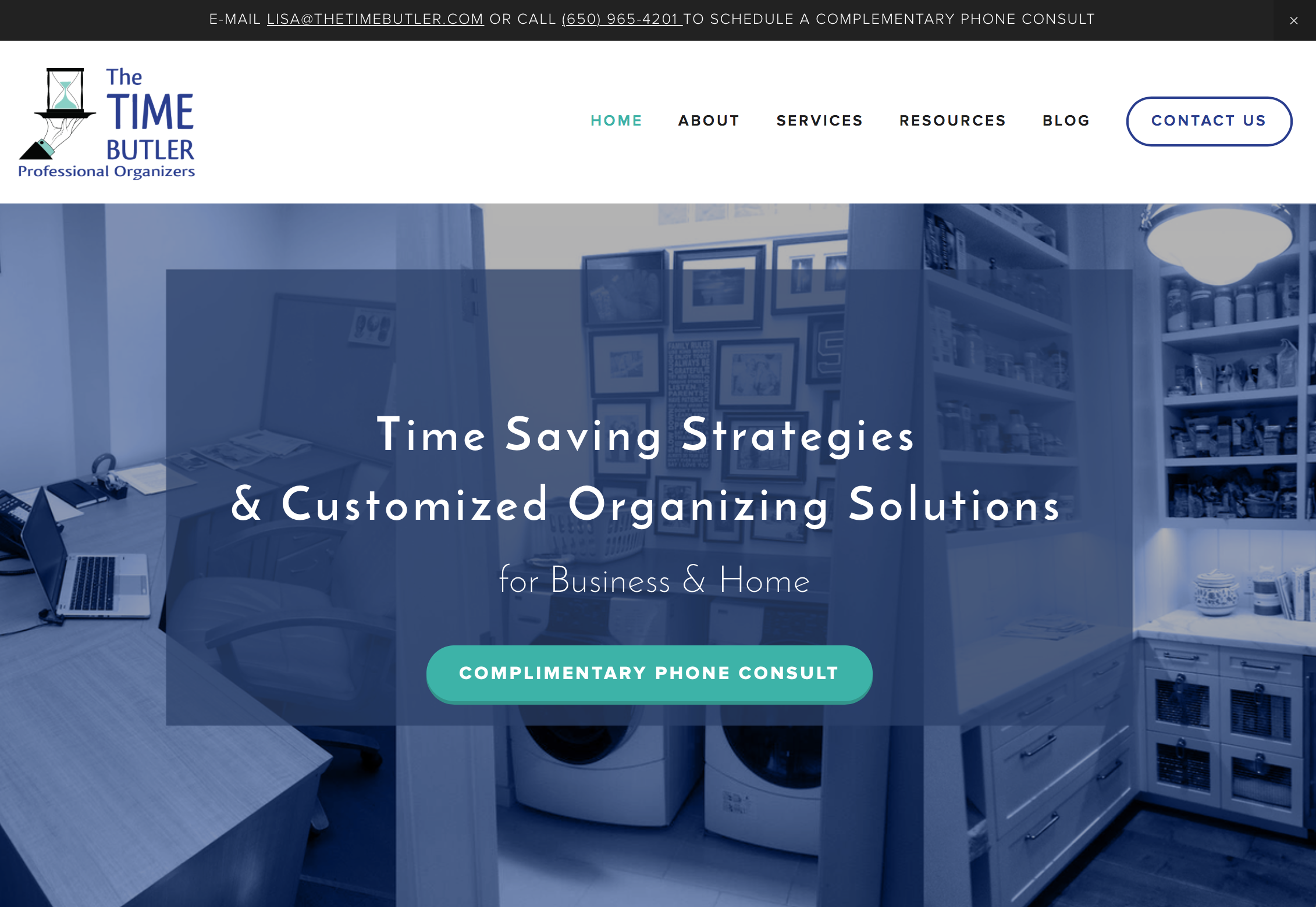 Web design for Professional Organizers