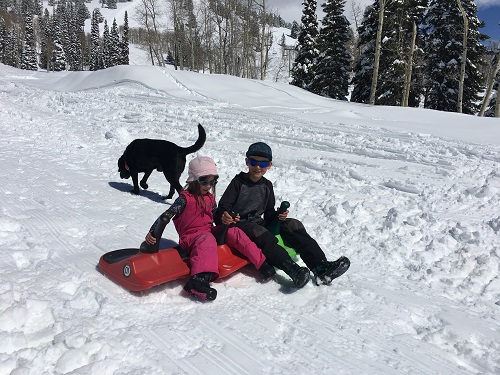 Sledding is always fun!