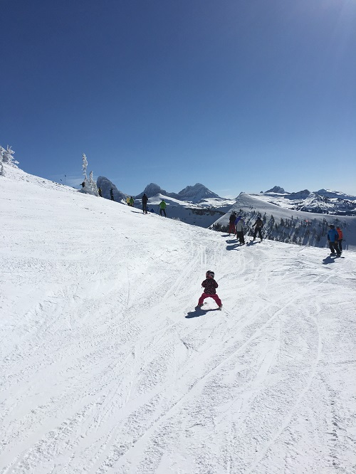 Teach your kids how to ski - grand targhee tetons