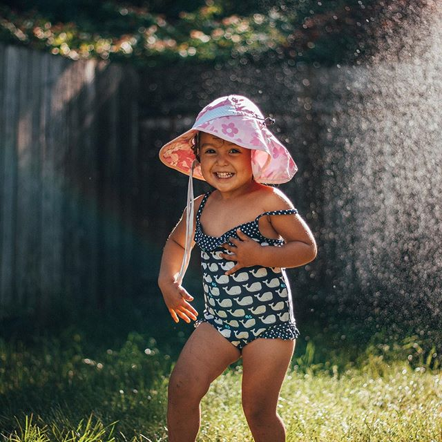 """In the winter my daughter often says """"I wish it was summer so I could run barefoot in the grass."""" Do it while you can! #summerishere ⠀ Thanks for the photos @rewildhood"""